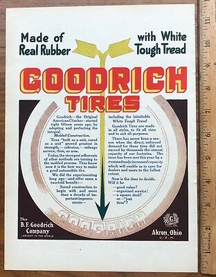 1912 Original Full Page Ad Advertising B.f. Goodrich Company - Tires