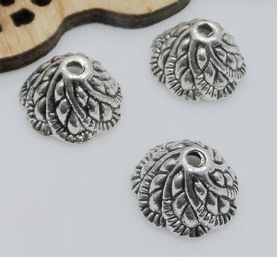 Free Ship 50Pcs Tibetan Silver Flower Beads Caps For Jewelry Making 6x11mm