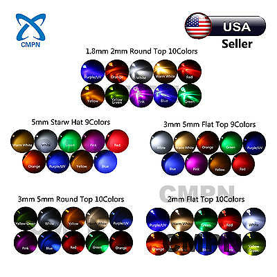 1.8mm 2mm 3mm 5mm LED Diodes White Red Yellow Green Blue Purple/UV Mix Kits