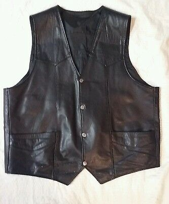 mens leather motorcycle vest xl