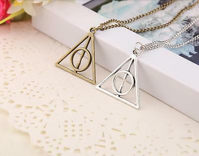 Popular Movie Harry Deathly Hallows Pendant Necklace Movie Jewelry Long Chain