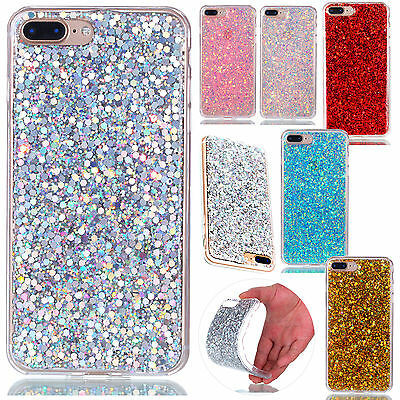 Luxury Glitter Soft Slim TPU Silicone Shockproof Case Cover For iPhone 6 7 Plus
