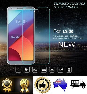 Premium Tempered Glass Screen Film Protector for LG G6 G3 G4 G5
