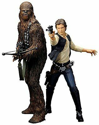 Kotobukiya Star Wars Han Solo and Chewbacca Artfx+ Statue