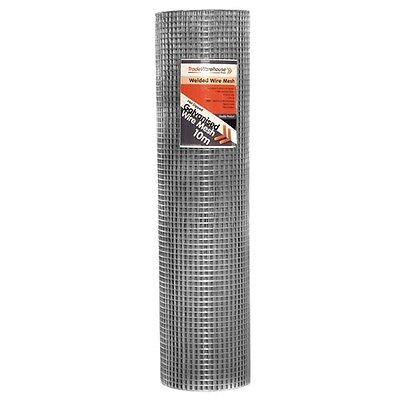 Aviary & Cage Wire Mesh 914mm 12.5mm squares x 30m Roll - 0.81mm wire gauge MEDI