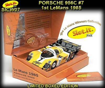 Slot.it CW07 Porsche 956C - 1st Le Mans 1985 - suits Scalextric slot car track
