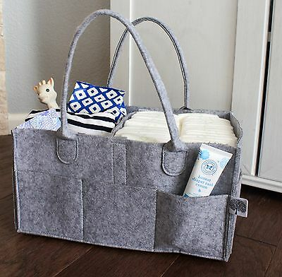 Nursery Storage Bin and Car Organizer for Baby Diapers and Baby Wipes Holder Box