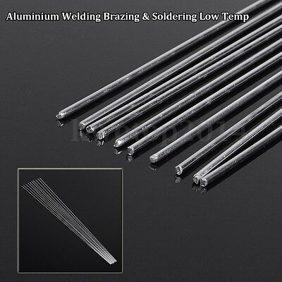 10pcs 2.4mm*50cm Metal Aluminium Low Temperature Welding Brazing Rod For Repair