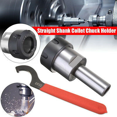 C20-ER32-50L CNC Arbor Straight Shank Collet Chuck Taper Holder 20MM + Wrench