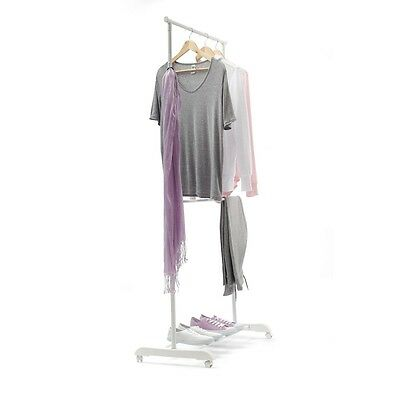 Clothes Clothing Rack Stand Double Rail Portable Garment Hanger Adjustable New