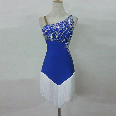 Latin Dance Dress Performance Spandex Rhinestone Dance Competition Latin Dancer