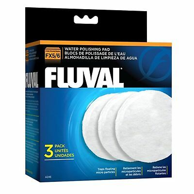 Fluval Polishing Pad (3 Pack) Suits FX5 FX6 Canister Filter Clears Water Purity