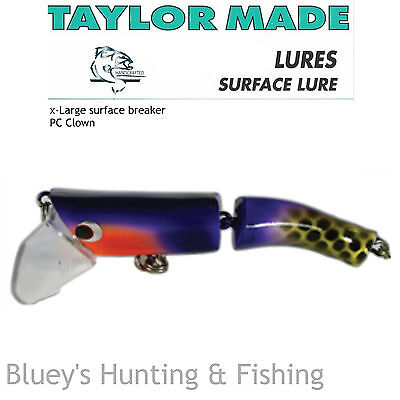Taylor Made X-Large Cod Barra surface breaker articulated Lure;col PC Clown