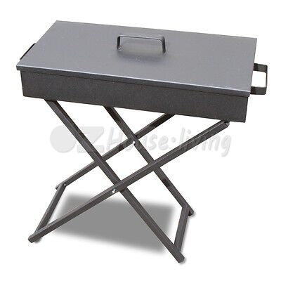 30x60 Portable Foldable Folding Charcoal Wood BBQ Grill Camping Picnic