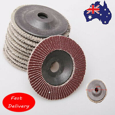 10x 100mm CUTTING DISC ASSORTED GRIT ANGLE GRINDER SANDING CUT OFF METAL STEEL