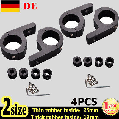 """4x 1 1.5"""" LED MOUNT BRACKET LIGHT CLAMP for ROOF ROLL CAGE BAR 25mm to 35mm TUBE"""