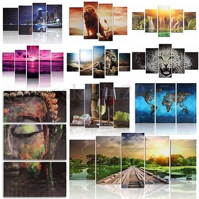 10 Types Unframed Modern Abstract Home Art Canvas Painting Hanging Wall Decor