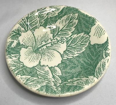 Wallace China Green Hibiscus Fruit Berry Dessert Bowl - Vintage Restaurant Ware