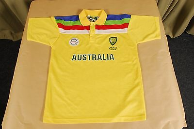 NWT Australia 1992 Cricket World Cup ODI Retro Polo Shirt Jersey Mens L