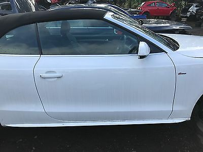 2008-2012 Audi A5 Convertible 2.0 Tfsi Breaking Complete O/s Door In White