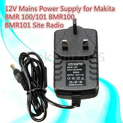 100-240V AC Mains Power Supply Adapter Charger For Makita BMR 100/101 Site Radio