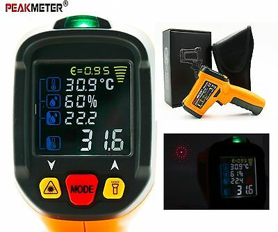 PEAKMETER Non-contact 2in1 Digital Colorful Display Infrared Thermometer PM6530D