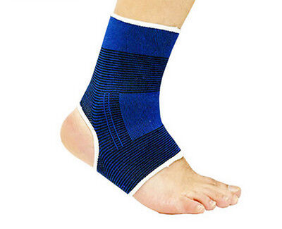 Elastic Compression Sports 2pcs Ankle Foot Hot Pain Relief Wrap Support Brace