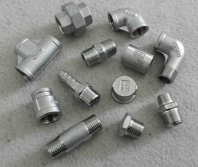 "STAINLESS STEEL 316 PIPE FITTINGS NPT 1/8"" To 2"" - RATED 150lb"