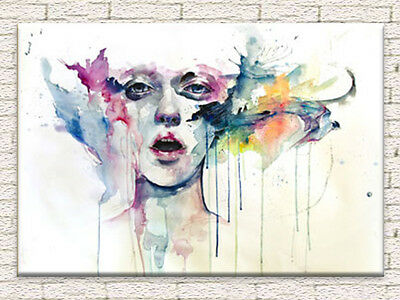 ABSTRACT LADY CANVAS PRINTED PAINTING LARGE 70x100 FRAMED WALL ART