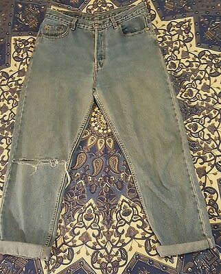 Vintage Levi's 501 womens size 13 size 14 high-waisted jeans
