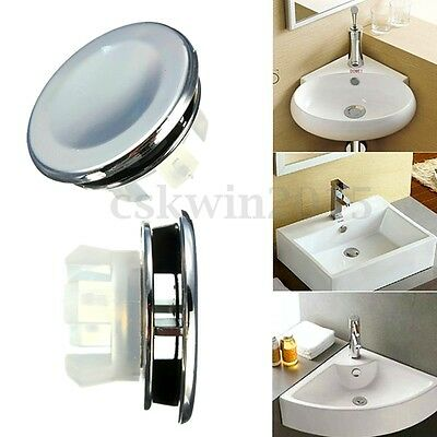 3 Types Bathroom Round Overflow Covers For Basin / Sink-Chrome Trim Replacement