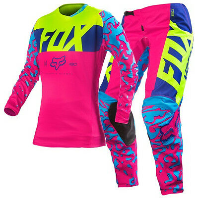 New FOX MX 2016 Pink Motocross Jersey & Pants Outfit 180 Womens Ladies Girls