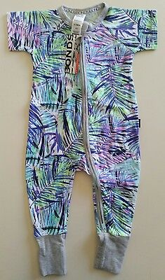 0 NEW RARE bonds tropical fluoro palms zippy wondersuit rrp $24.95 lots2list