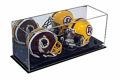 Mirror Double Mini Football Helmet Case with Black Risers (A019-BR)