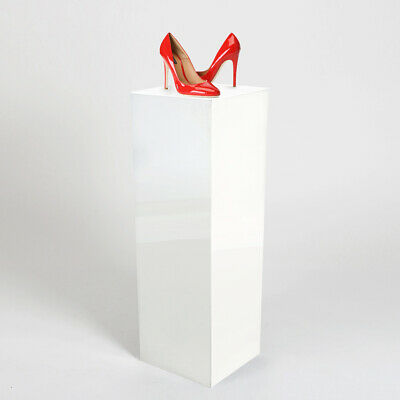 Large Product Display Plinths - Pedestals 900mm High | Gloss White | Made in UK