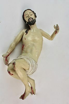 *christ  Of Polychromed Wood. Xix Century.