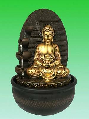 Buddha Water Feature - Meditation Buddha Indoor fountain (Pump & LED included)