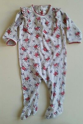 00 EUC Bebe gorgeous roses thick winter romper minihaha floral lots2list