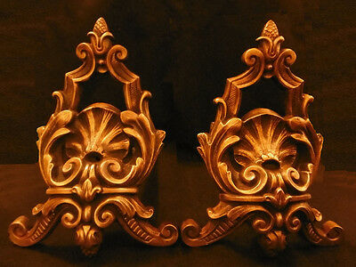 Pair Of Fireplace Andirons, Regency Style, Era 19Th - Bronze - French Antique