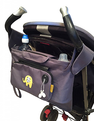 My Elephant Pram / Buggy Organiser with detachable purse and extra storage bag