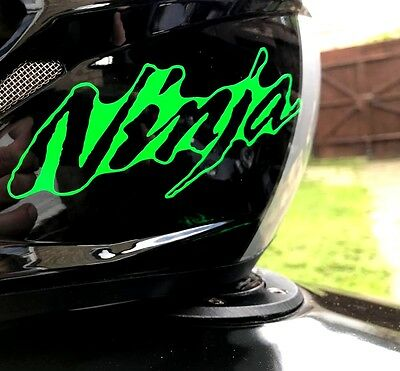 2x ninja stickers decal fluorescent green