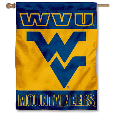 West Virginia Mountaineers Two Sided House Flag