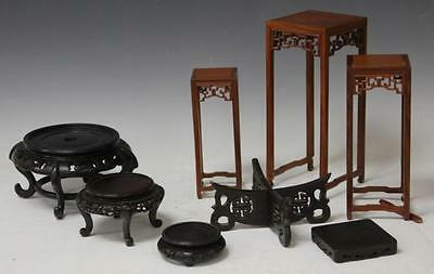 LOT OF (8) CHINESE CARVED WOOD STANDS Lot 6403