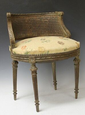 VINTAGE FRENCH VANITY CHAIR Lot 6377