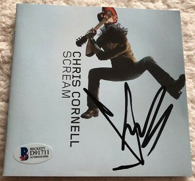 Chris Cornell Autographed SCREAM CD SIGNED #2 RIP