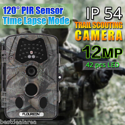 12MP 1080P Hunting Camera Trail Scouting Wildlife Cam Night Vision LED Infrare