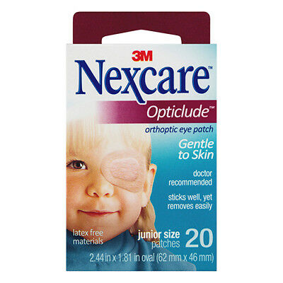 NEW Nexcare Eye Patch Pack Opticlude PK Of 20 Orthoptic Eye Patch
