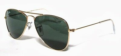 Ray Ban 9506 50 Aviator Junior 223/71 Gold Sunglasses Bambino Oro G15 Sole Baby