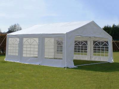Great White Marquee 6m x 6m Economy Wedding Party Tent Event Gazebo White NEW