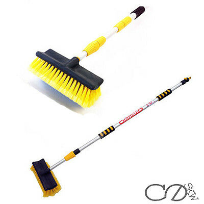 Water Fed Extendable Telescopic Pole Wash Brush 2.5m Long Reach Clean